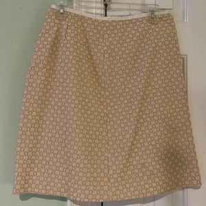 Worth cream skirt with tan embroidery size 6